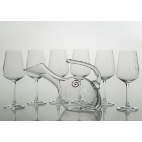 Ultima wine set. 6 glasses and decanter 38683 (J7engraving)