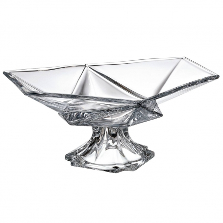 Spectral footed centrepiece. Bohemian Glass
