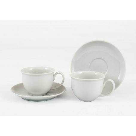 Pocillo y plato de café Moments col. Blanca