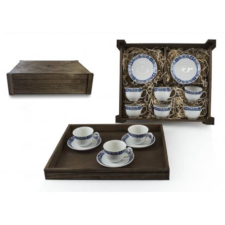 Juego de café Moments 6 pz. en caja de madera col. Celta