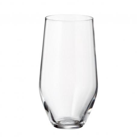 Vaso alto cristal Bohemia para zumo modelo Michelle 400 ml