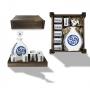 Seven-piece liquor set in wooden box. Lagoa design, Luacollection.