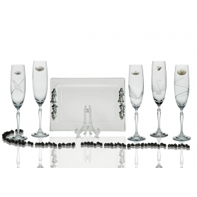 Barbelina champagne flutes and Rialto tray for wedding/anniversary gift