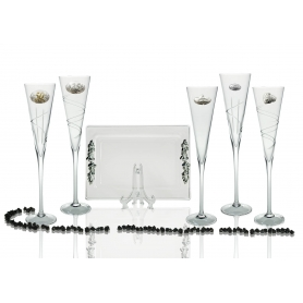 Radu champagne flutes and Rialto tray for wedding/anniversary gift