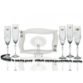Copas Champán Barbelina con bandeja Patisserie para boda o aniversario