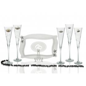 Copas Champán Radu con bandeja Patisserie para boda o aniversario