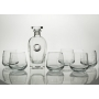Alma Whisky set with Rossini bottle. 7 pz (203 engraving)