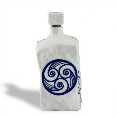 Porcelain liquor bottle Piedra. Lua collection.