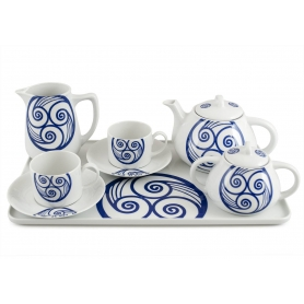 Six-piece tea set inc Beta Tray. Pombal design, Lua collection.