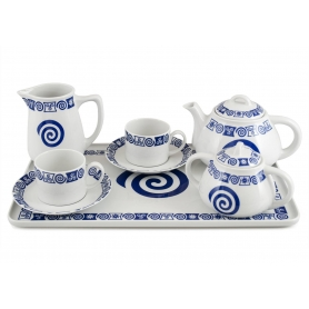 Six-piece tea set inc Beta Tray. Pombal design, Celta collection.