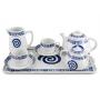 Six-piece tea set inc Beta Tray. Pombal design, Celta collection.