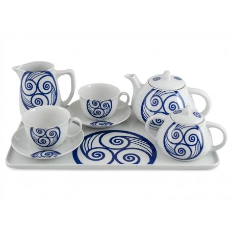 Six-piece tea set inc Beta Tray. Moments design, Lua collection.