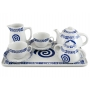 Six-piece tea set inc Beta Tray. Moments design, Celta collection.