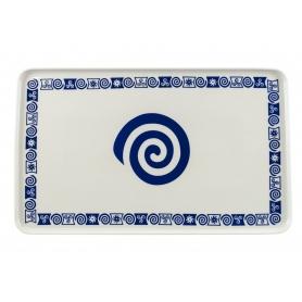 Porcelain platter Celta. White collection.