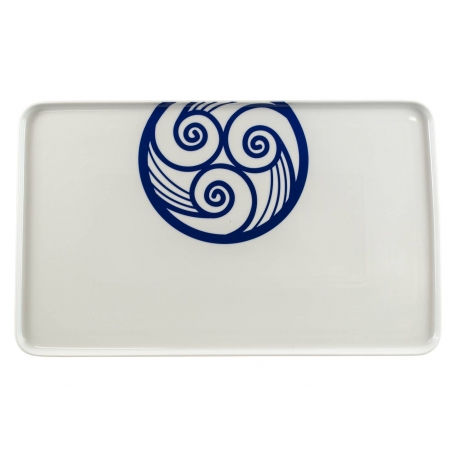 Porcelain platter Celta. Lua collection.