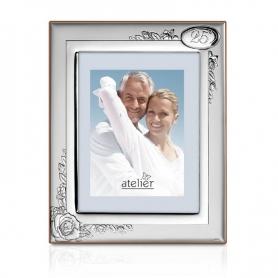 25th Anniversary Silver Photo frame AE0189/18