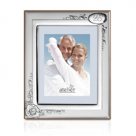 25th Anniversary Silver Photo frame AE0189/18