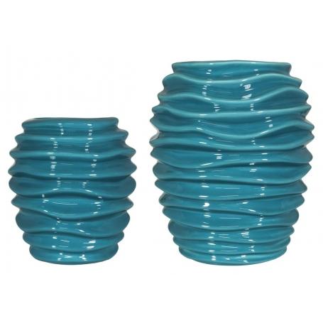 Waves Flowervase Turquoise