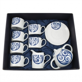 Eight-piece Pombal tea set. Lua collection