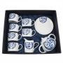 Eight-piece Pombal tea set. Lua collection
