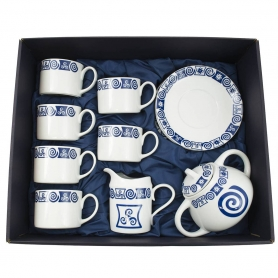 Eight-piece Pombal tea set. Celta collection