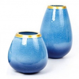 Waves Flowervase turquoise