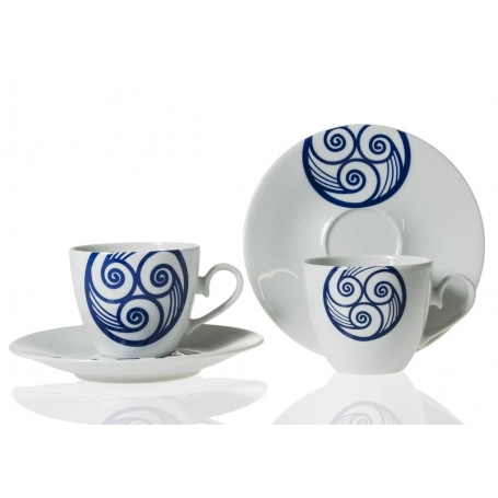 Tea cup and saucer. Volare desing, Lua collection.