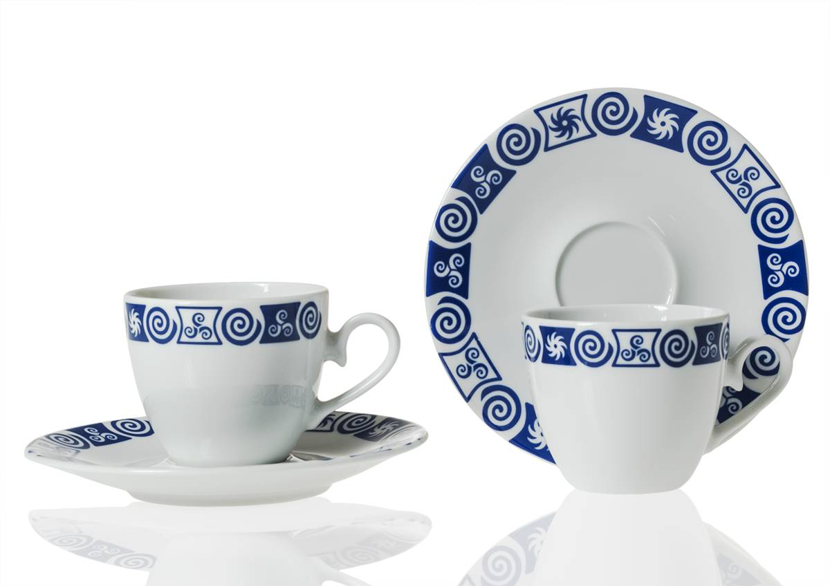 Tea cup and saucer. Volare desing, Celta collection.