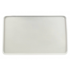 Porcelain platter Beta. White collection.