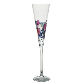 Red Milano champagne flute 180
