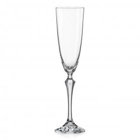 Bohemian glass champagne flute Elisabeth 200