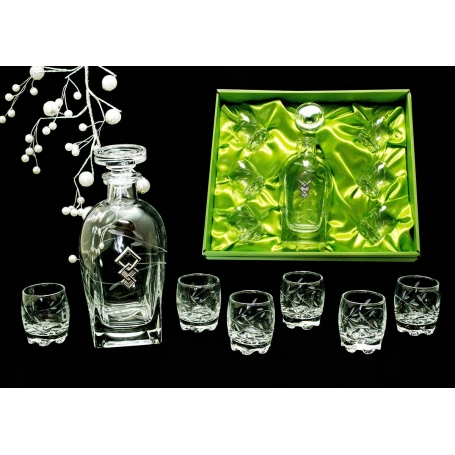 Liquor set. Rossini bottle and Sylvana shot glass (T6)