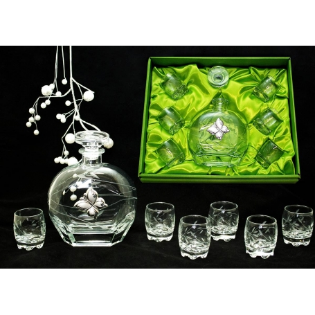 Liquor set. Puccini bottle and Sylvana shot glass (T6)