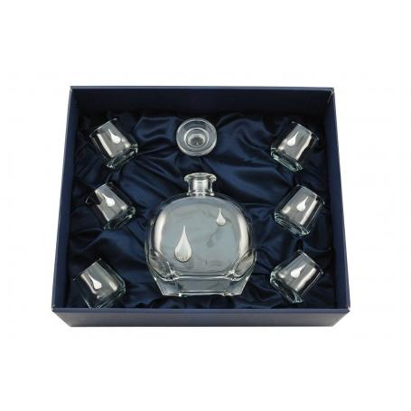 Liquor set. Puccini bottle and Alma shot glass