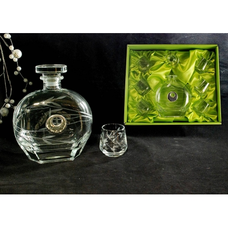 Liquor set. Puccini bottle and Alma shot glass (T6)