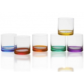 Vaso Whsiky Barline Color 410. Bohemia