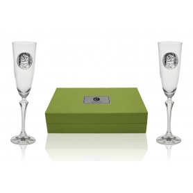 Elisabeth champagne flutes tree of life collection
