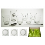Six-glass and ice bucket cocktail set (E5)