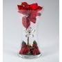 Florero Navidad Rojo Flor Plata 570