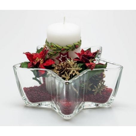 Centro estrella bowl Navidad Rojo 532
