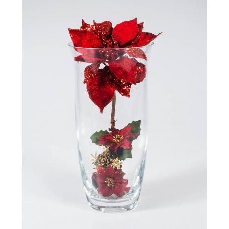 Florero Navidad Rojo 505