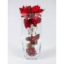 Florero Navidad Rojo Flor Plata 505