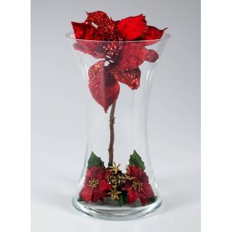 Florero Navidad Rojo 507