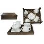 Juego de té Volare 4 pz. en caja de madera col. Blanca