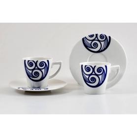 Pocillo mas plato para café modelo Mos colección lua