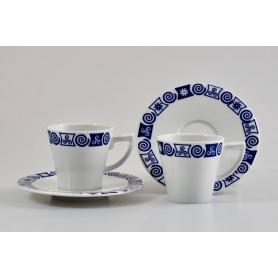 Pocillo más plato para café modelo Mos colección Celta