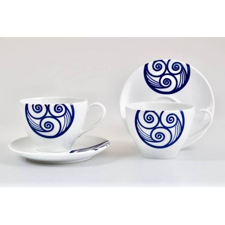 Six-piece, Volare coffee set. Celta collection.
