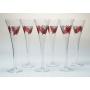 X.MAS champagne flutes. Wedding gift set.