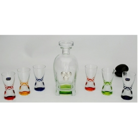 Juego licor Espiral Rossini con chupitos Ideal Multicolor