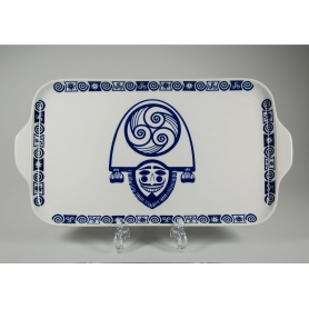 Bandeja Porcelana rectangular mod Celta Cigarron Gracia 40 cm largo